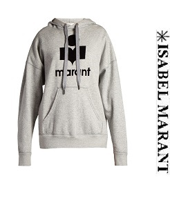 이자벨마랑 에뚜왈 2018 FW Mansel logo-print hooded sweatshirt