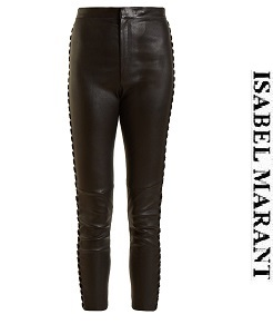 이자벨마랑 2018fw Medley whipstitch-seam cropped leather trousers     (가격 문의 주세요)